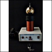 Bobina de Tesla mod. M2- 220Vac-com controle remoto