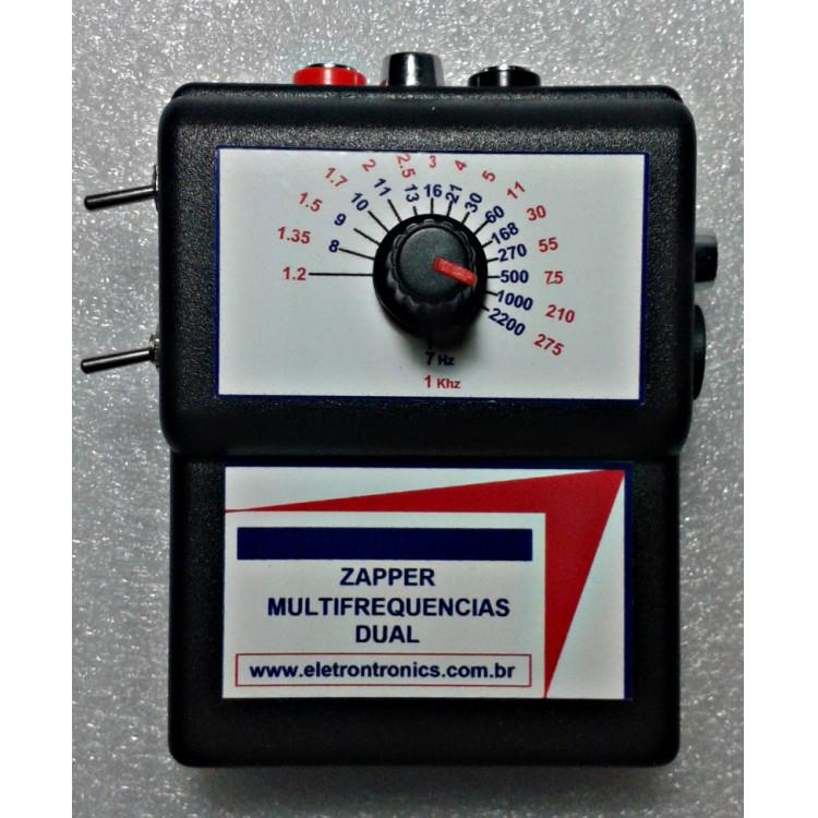 Zapper multifrequencias Dual,com fonte externa ou bateria e indicador de bateria fraca- 7Hz a 275Khz